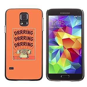 Be Good Phone Accessory // Dura Cáscara cubierta Protectora Caso Carcasa Funda de Protección para Samsung Galaxy S5 SM-G900 // ring retro text phone purple text rotary