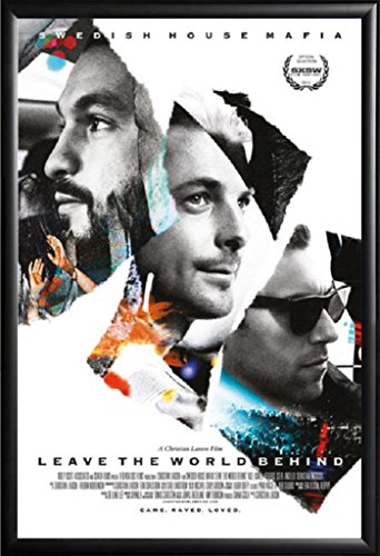 Framed Swedish House Mafia - Leave The World Behind 24x36 Movie Poster in Matte Black Finish Wood Frame