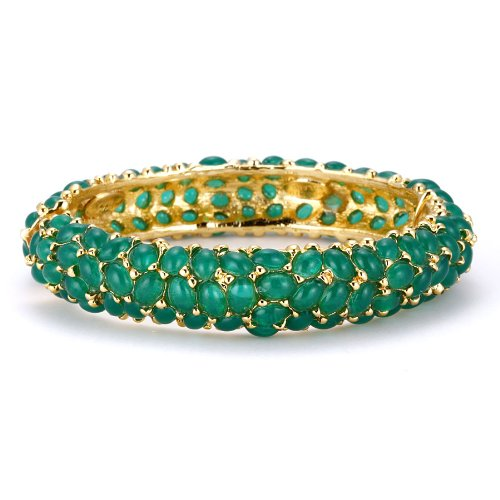 Kenneth Jay Lane Emerald Cabochon Bangle