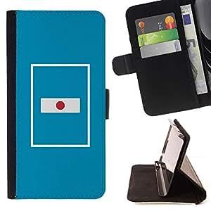 For Sony Xperia Z5 (5.2 Inch) / Xperia Z5 Dual (Not for Z5 Premium 5.5 Inch) Case , Bandera de la nación País Azul minimalista- la tarjeta de Crédito Slots PU Funda de cuero Monedero caso cubierta de piel