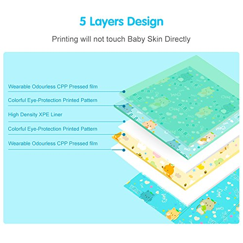 GPL/ Tumama Foldable Baby Playmat Crawling Mat for Kids Babies Toddler  Infant, Soft XPE foam Non Toxic Shock Reversible Waterproof Ground  Interactive