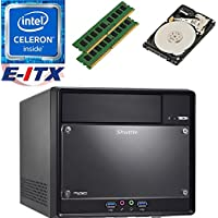 Shuttle SH110R4 Intel Celeron G3930 (Kaby Lake) XPC Cube System , 8GB Dual Channel DDR4, 2TB HDD, DVD RW, WiFi, Bluetooth, Pre-Assembled and Tested by E-ITX