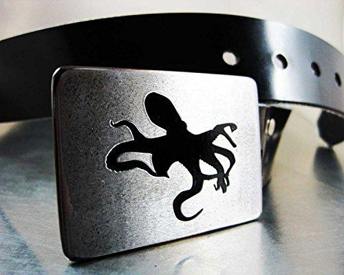 Rhythmic Metal Octopus Belt Buckle