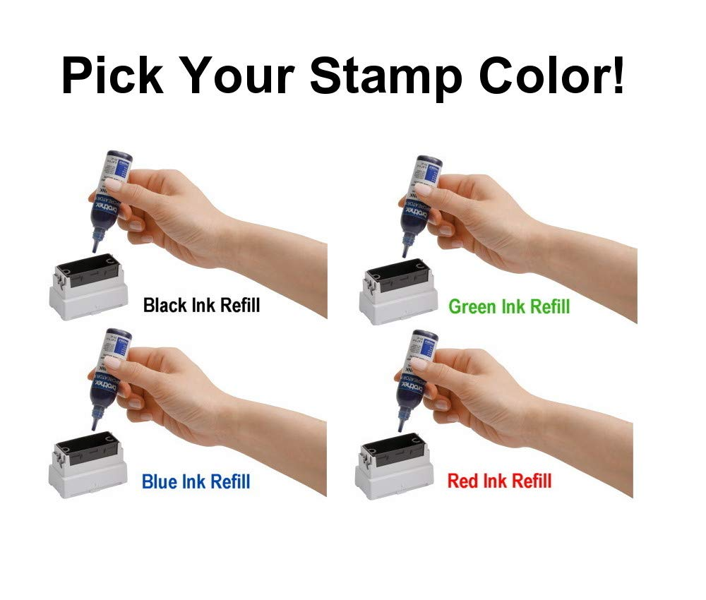 6/Pack Stamp Creator Rubber Stamp Ink Refill (Black) for Brother SC2000 StampCreator by StampCreator