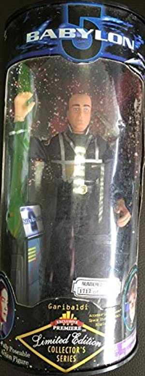 GARIBALDI Limited Edition 1997 Collector's Series 9 Inch BABYLON 5 Action Figure and Display Stand by Babylon 5