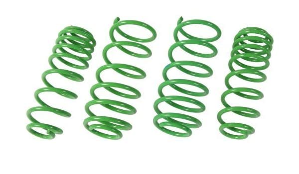 Set of 2 ST Suspension 68305 Rear 1 Lowered Height Muscle Car Spring,