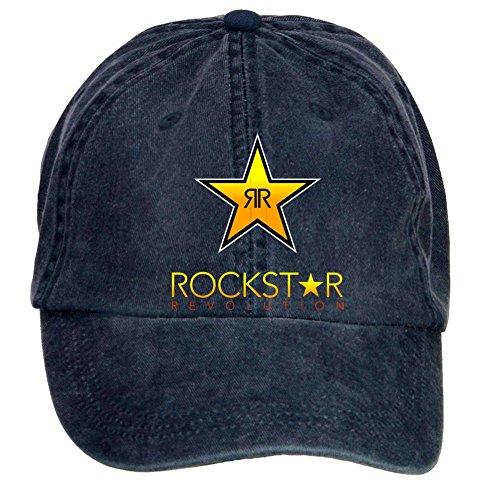 Kittyer Unisex Rockstar Energy Drink Adjustable Baseball - Monster Energy Drink Hat