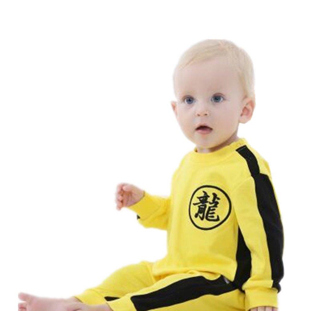 Bruce Lee Combinaison Pilote Bébé Garçons Printemps, Koly Bambin Combinaison Pyjamas de Neige en Coton Cartoon Mignonne Barboteuse Manches Longues Romper Jumpsuit