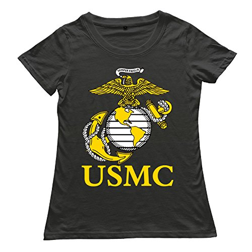 KSING Women's United States Marine Corps USMC Logo T-Shirt - Free Marines T-shirt