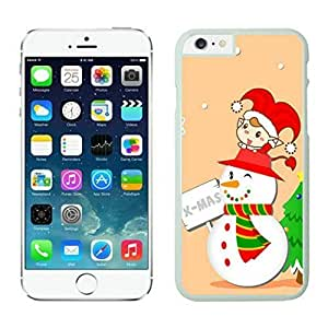 The Christmas Tree On Christmas Day Lovely Mobile Phone Protection Shell for iphone 6 Case-Unique Soft Edge Case(2015),Christmas snowman iPhone 6 Case 19 White