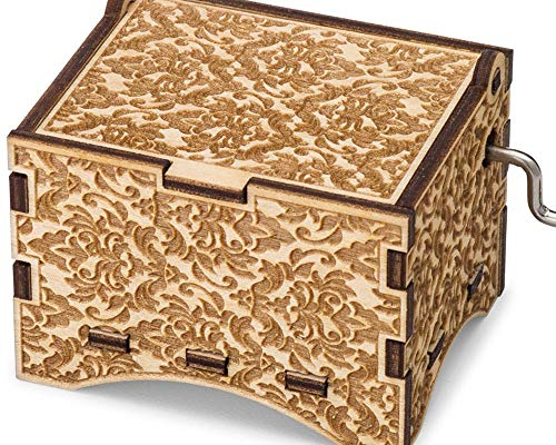 Mom Music Box - TheLaser'sEdge, You are My Sunshine, Personalizable Music Box, Laser Engraved Birch Wood (Damask Standard)