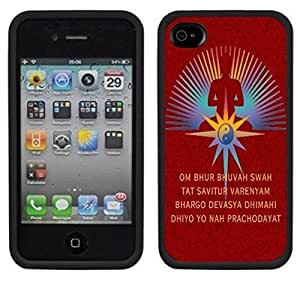 New Style Buddha Buddhist Handmade iPhone 4 4S Black Case