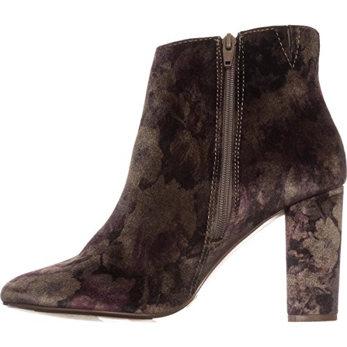 Purple floral Bottes Girl Cambrie Material Femmes qS8fRP