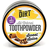 The Dirt All Natural Tooth Powder For Organic Teeth Whitening, 3 Month Tub 0.7 oz