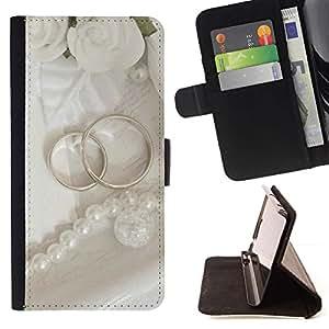 For Sony Xperia M5 E5603 E5606 E5653 Case , Anillo Pareja- la tarjeta de Crédito Slots PU Funda de cuero Monedero caso cubierta de piel