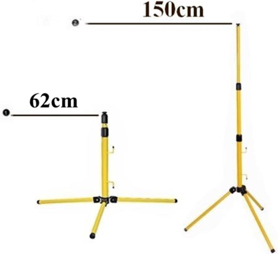 Teleskop Stativ St/änder f/ür Baustrahler LED Fluter Arbeitslampe Arbeitssstrahler Gelb St/änder