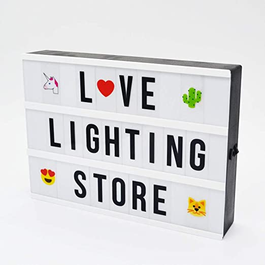 Amazon.com: A4 bricolaje Cinema Caja de luz con letras 351 ...