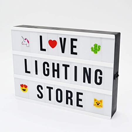 Amor de Mi cine caja de luz LED Signs con 351 azulejos combinación libre USB y funciona con pilas cinemática Lightbox para hogar, boda, tienda decoración: Amazon.es: Hogar