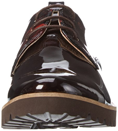 PIAZZA Marrone Dkbrown Braun Stringate Scarpe 850325 Donna qUOpTq