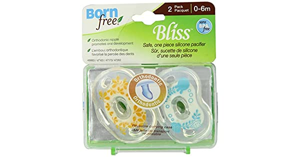 Amazon.com: Born Free, sin BPA) Bliss ortodoncia chupete ...