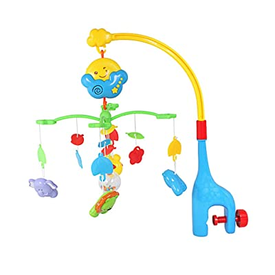 MAJINCGJ Newborn Baby Toy Crib Hanging Bed Bell Baby Toy 0-1 Years Old Bedside Hanging Bell Music Appease Rotating Ornaments Newborn Children Rattle Baby Teether Toy : Baby