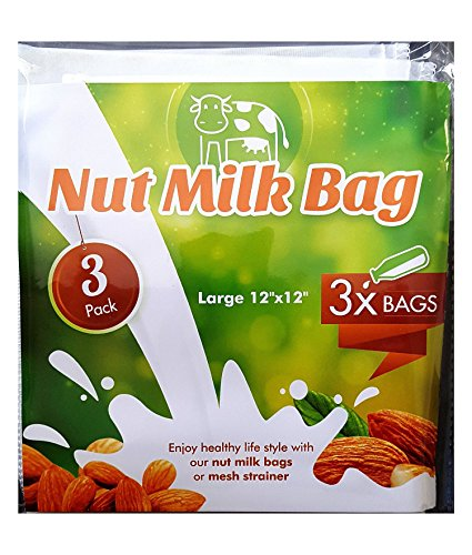 3-Pack-Nut-Milk-Bag-Large-12x-12-All-Purpose-Commercial-Grade-Strainer-Fine-Mesh-Nylon-Cheesecloth-Organic-Cotton-Bags-for-Almond-Milk-Juice-Best-Milk-Maker-Reusable-Durable-3-Packs