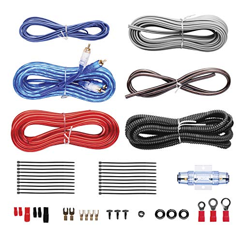 boss audio kit2 8 gauge amplifier installation wiring kit a car amplifier  wiring kit helps you make connections and brings power to your radio  subwoofers