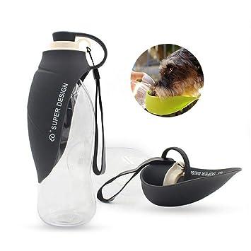 AOLVO - Botella de Agua portátil para Perro de Viaje, dispensador de Agua de Silicona