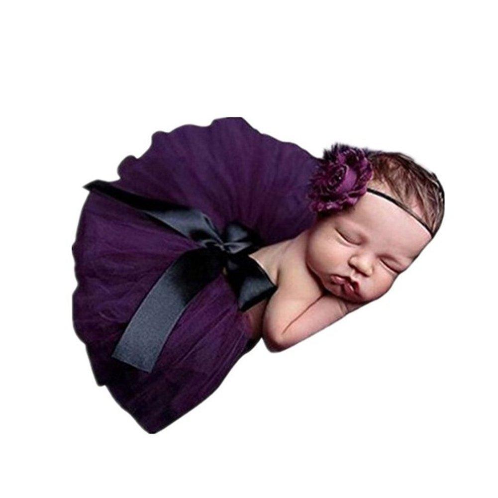 AKAAYUKO Bebé Recién Nacido Falda De Tutú Bowknot And Headband Fotografía Prop grprops-142