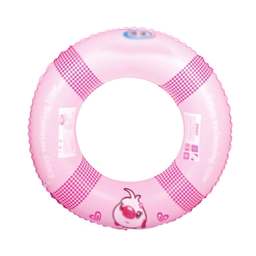 Pink QNJM Inflatable Beach Swimming Pool Sea Swim Rubber Float Ring, Summer Beach Pool Party Toys For Adults And Kids (color   White)