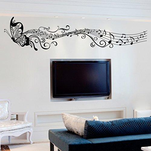 Decals Design 'Musical Butterfly' Wall Sticker (PVC Vinyl, 70 cm x 50 cm)