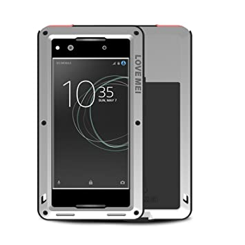 timeless design 572ad 5f613 Sony Xperia XA1 Case, Eastcoo Armor Tank Hybrid Aluminum Metal Bumper Heavy  Duty case with XA1 Gorilla Glass Screen protect Shockproof Water Resistant  ...