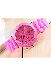 Domire Geneva Silicone Jelly Gel Quartz Analog Sports Wrist Watch