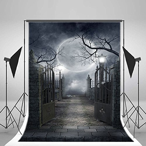 RBabyPhoto 5X7FT Halloween Backdrop All Saints' Day Horror