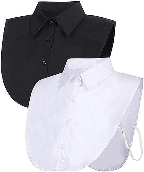 GAOXUQIANG 2 Piezas Cuello Falso Blusa Desmontable Cuello de Dickey Medias Camisas Cuello Falso para Mujeres favores: Amazon.es: Deportes y aire libre