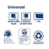 Tork Universal Multifold Paper Towel H2, Disposable Hand Towel MK520A, 100% Recycled Fibers, 1-Ply, Natural - 16 x 250 Sheets