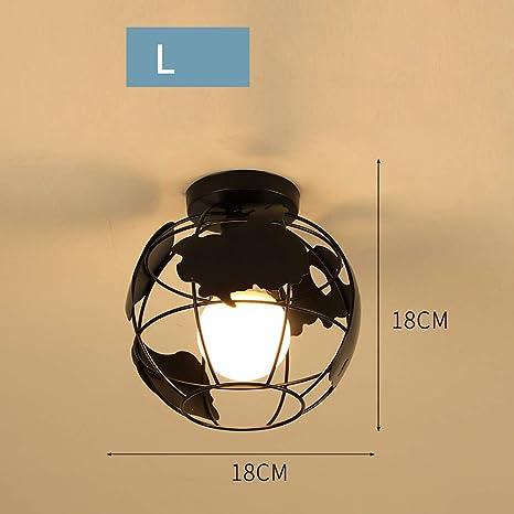 Amazon.com: WWWJ - Lámpara LED de hierro forjado, estilo ...