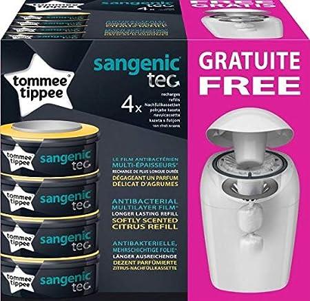 Contenedor para pañales Sangenic Hygiene Plus Tommee Tippee + 4 recambios Tec: Amazon.es: Bebé