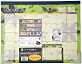 AT-A-GLANCE Visual Organizer Recycled Flowers Desk Pad, 22 x 17 Inches, 2012 (5035-12)