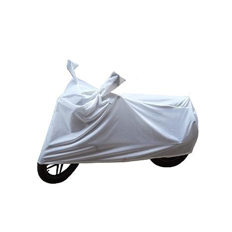 Bikenwear Body Cover White For Bajaj Platina 100 Es 125 Dts Si