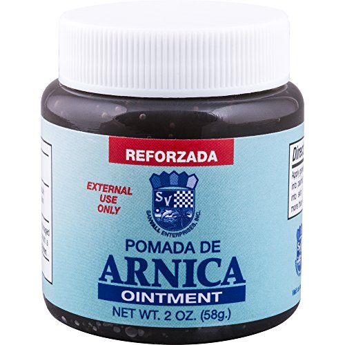 Sanvall Arnica Ointment, 2 Ounce – Pomada de Arnica, Topical Analgesic Pain Relief Remedy, Sore Muscle, Bruises, Sprains, Scars and Arthritis, Menthol Aroma (Dark)