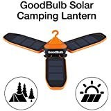 GoodBulb Compact Solar Lantern - Folding Lantern - Camping Gear - Solar Lights - LED Rechargeable Light - 680 mAh Battery - Charge by USB