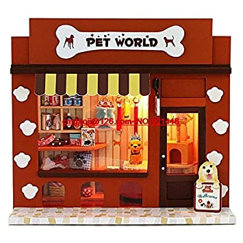 Diy Craft Hand Assembled Wooden Mini Model Toy Small House Birthday Gift To Send Children