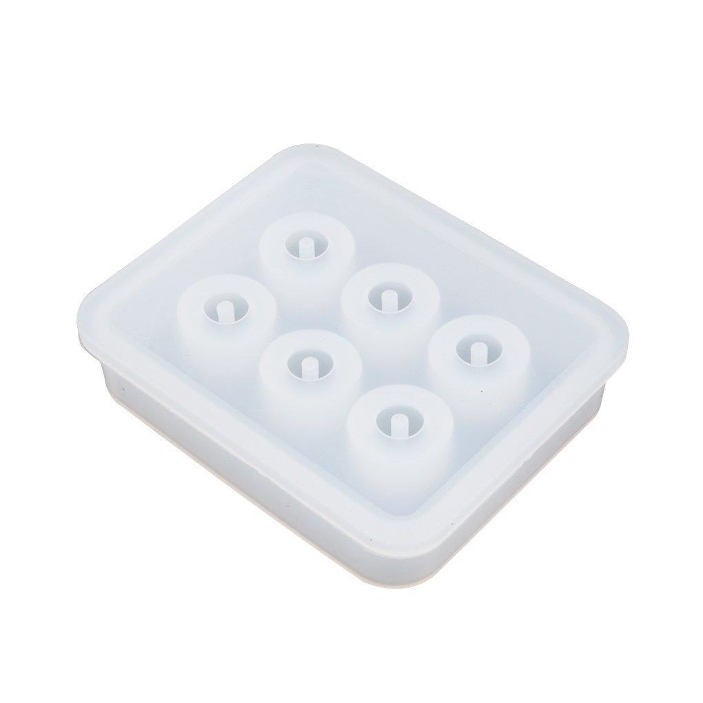 LUFA Stampo Trasparente della Sfera del Quadrato della Sfera del Silicone del rettangolo 6 Fori di Appendere la Muffa dei monili di DIY