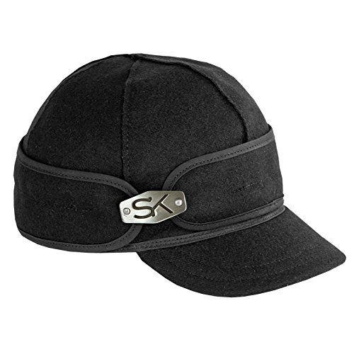 Stormy Kromer Girl's Ida Kromer With Hardware Cap,Black,6.5