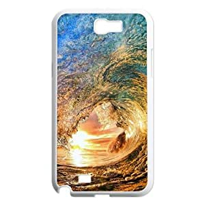 Custom Ocean Wave Surfer Sunset Note2 Phone Case, Ocean Wave Surfer Sunset DIY Cell Phone Case for Samsung Galaxy Note2 N7100 at Lzzcase