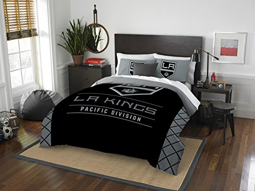 The Northwest Company Officially Licensed NHL Los Angeles Kings Draft Full/Queen Comforter and 2 Sham Set (La Kings Hockey)