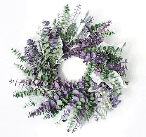 Purple Passion Eucalyptus Wreath 17