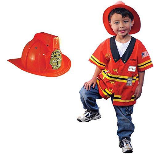 Firefighter size 3/5 Helmet Costume Bundle Set