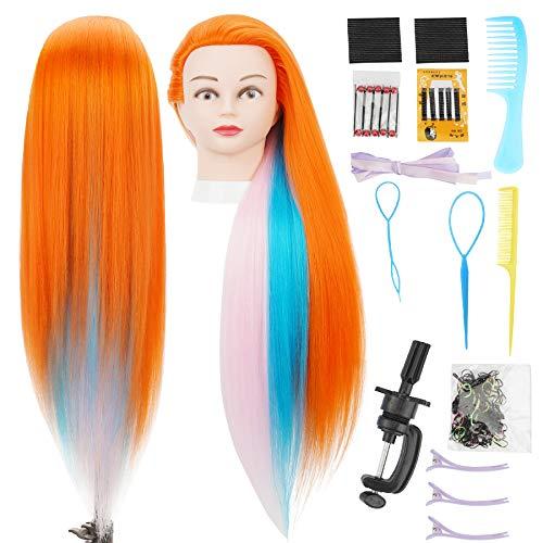 Cabeza  practica de peluqueria 75cm(3 colores A)+ accesorios
